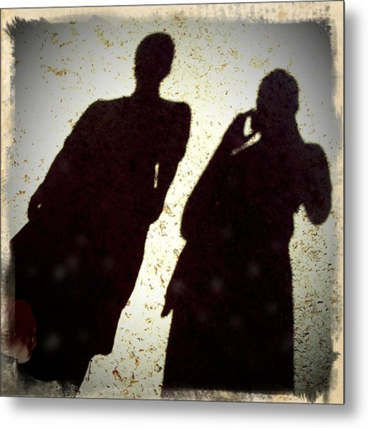 Just The Two Of Us - Shadows Of A Couple Metal Print