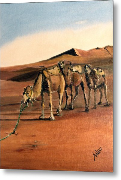 Just Us Camels Metal Print