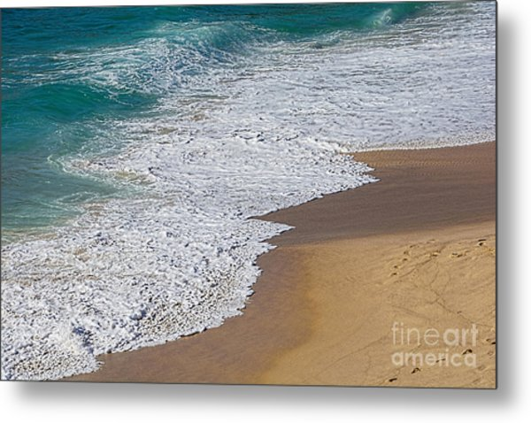 Just Waves And Sand By Kaye Menner Metal Print