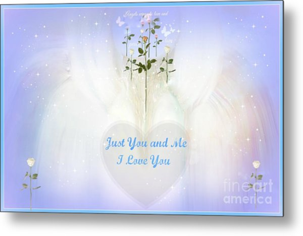 Just You And Me I Love You Metal Print by Sherri's Of Palm Springs