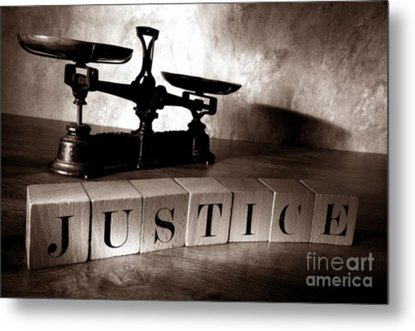 Metal Print featuring the photograph Justice by Olivier Le Queinec