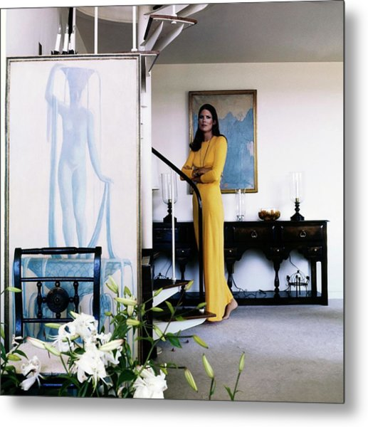 Justine Cushing At Home Metal Print by Horst P. Horst