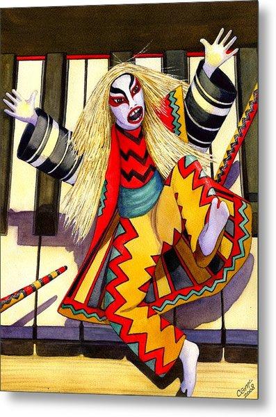 Kabuki Chopsticks 3 Metal Print by Catherine G McElroy