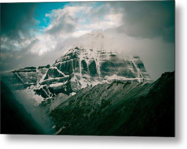 Kailas Mountain Tibet Home Of The Lord Shiva Metal Print
