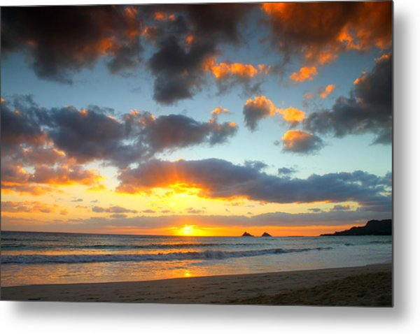 Kailua Beach Sunrise Metal Print