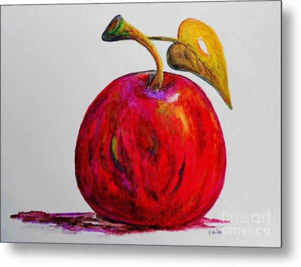 Kaleidoscope Apple -- Or -- Apple For The Teacher  Metal Print
