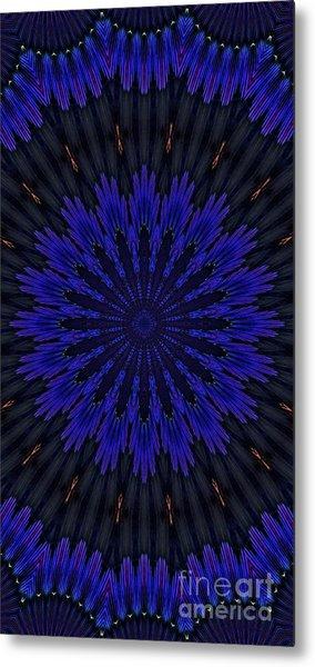 Kaleidoscope Feathers Two Metal Print