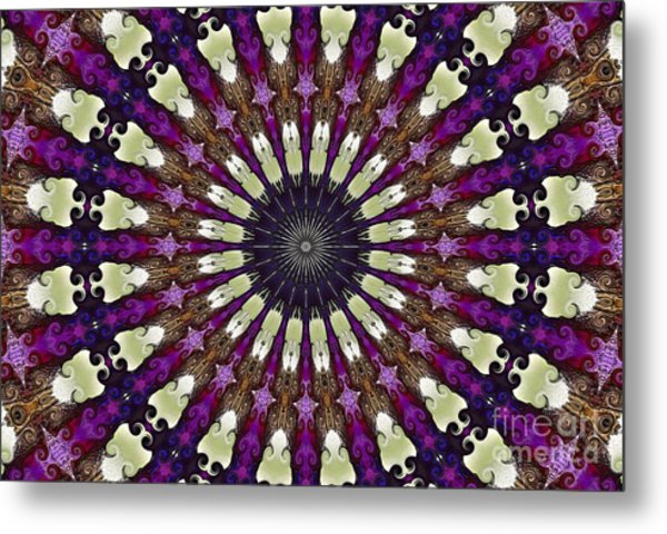 Kaleidoscope Iris Metal Print