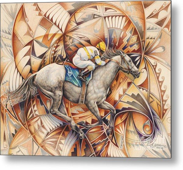 Kaleidoscope Rider Metal Print