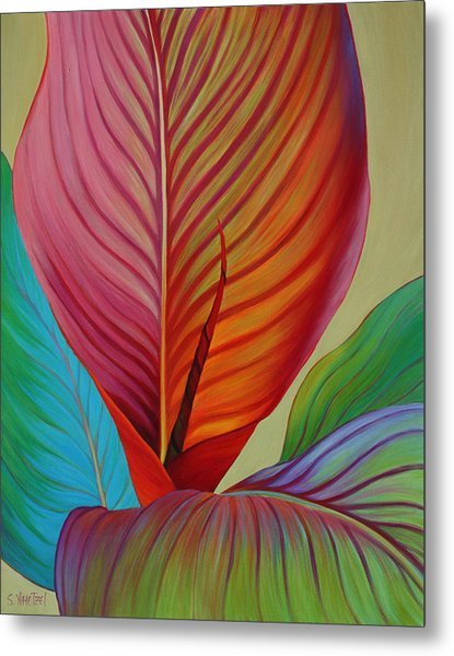 Metal Print featuring the painting Kaleidoscope by Sandi Whetzel