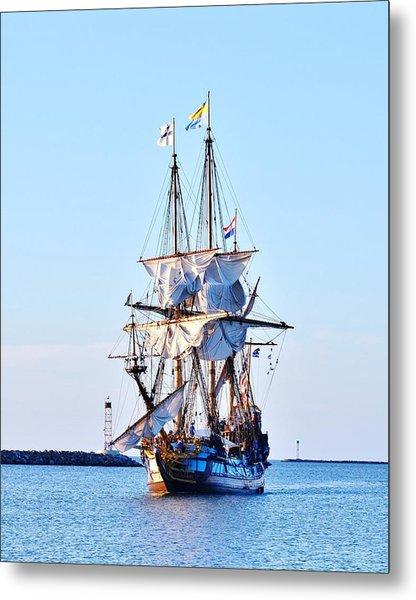 Kalmar Nyckel Tall Ship Metal Print
