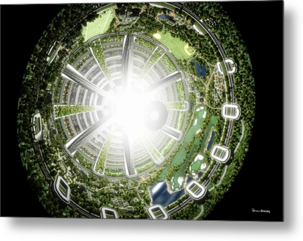Metal Print featuring the digital art Kalpana One Space Station Section by Bryan Versteeg