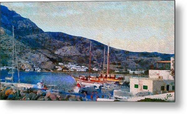 Kamares Port Metal Print by Laurence Canter