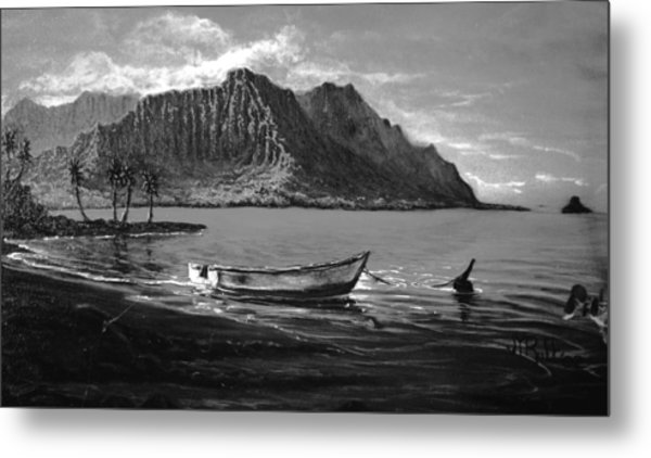 Kaneohe Bay Early Morn - Study Metal Print