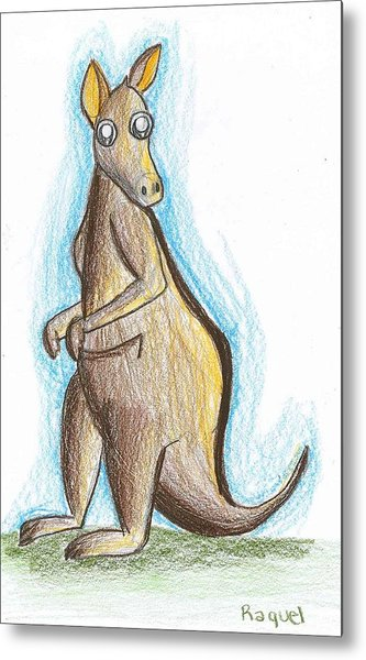 Kangaroo From Down Under Metal Print by Raquel Chaupiz