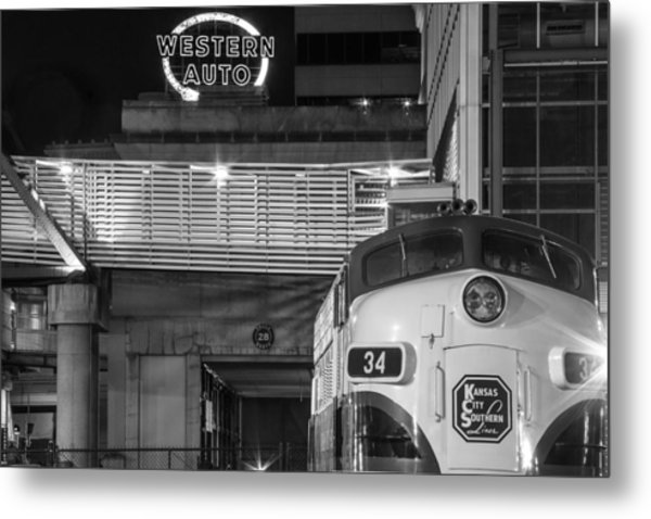 Kansas City Night Train Metal Print