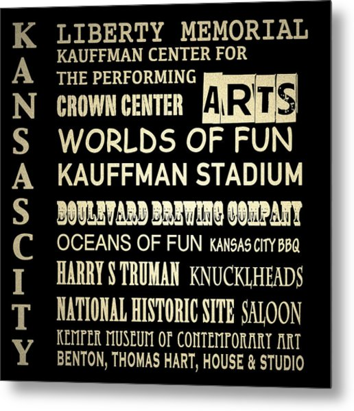Kansas City Famous Landmarks Metal Print