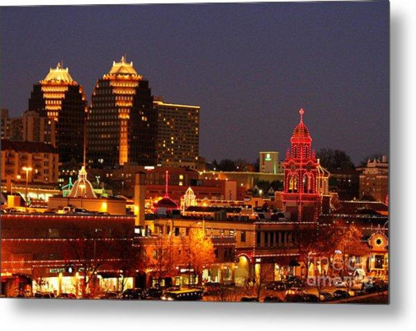 Kansas City Plaza Lights Metal Print