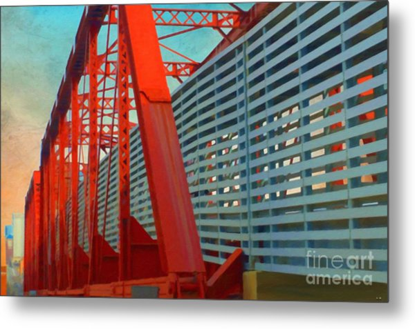 Kansas City Train Bridge - Pencoyd Railroad Bridge  Metal Print