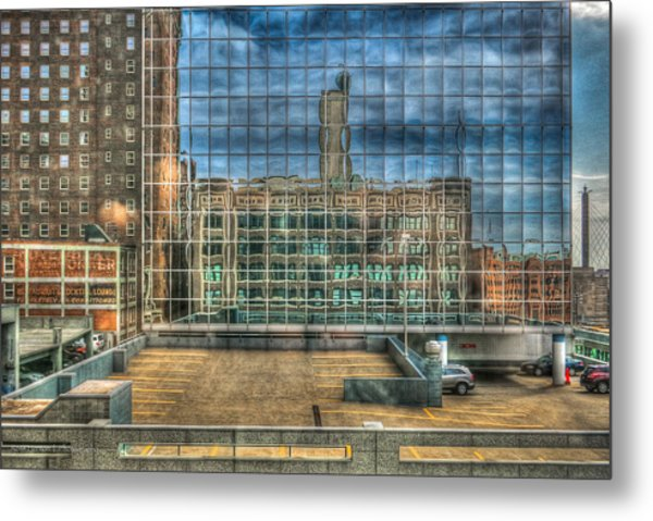 Kansas City Windows Metal Print