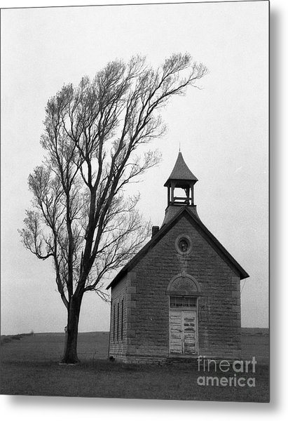 Kansas Schoolhouse Metal Print