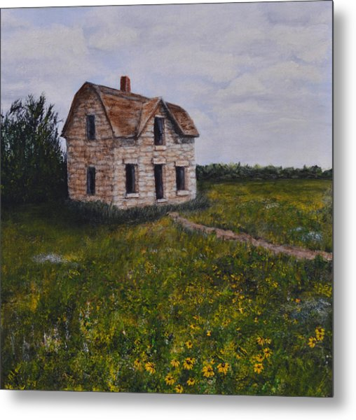 Kansas Stone House Metal Print