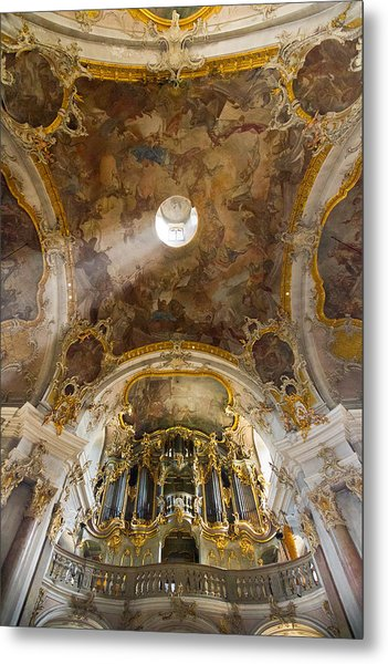 Kappele Wurzburg Organ And Ceiling Metal Print