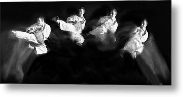 Karate #1 Metal Print by Hilde Ghesquiere