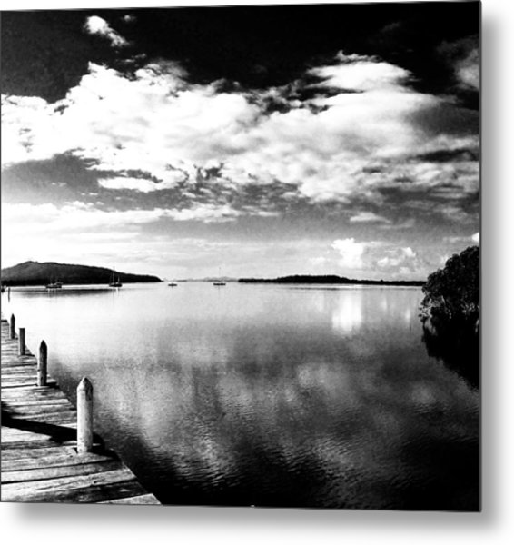Karuah From The Jetty Square Metal Print