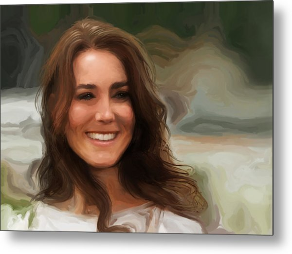 Metal Print featuring the painting Kate Middleton by Jennifer Hotai