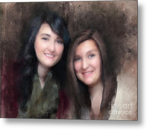 Katie And Sara Metal Print