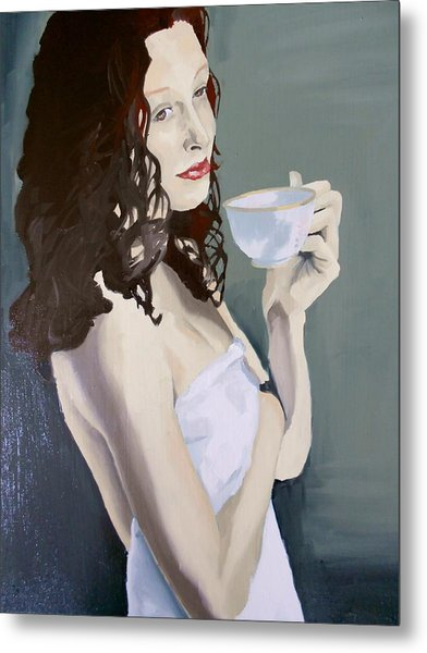 Katie - Morning Cup Of Tea Metal Print