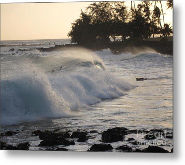 Kauai - Brenecke Beach Surf Metal Print