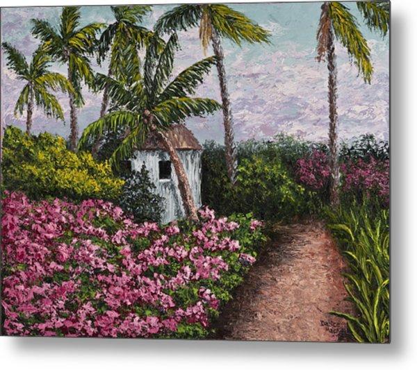 Kauai Flower Garden Metal Print