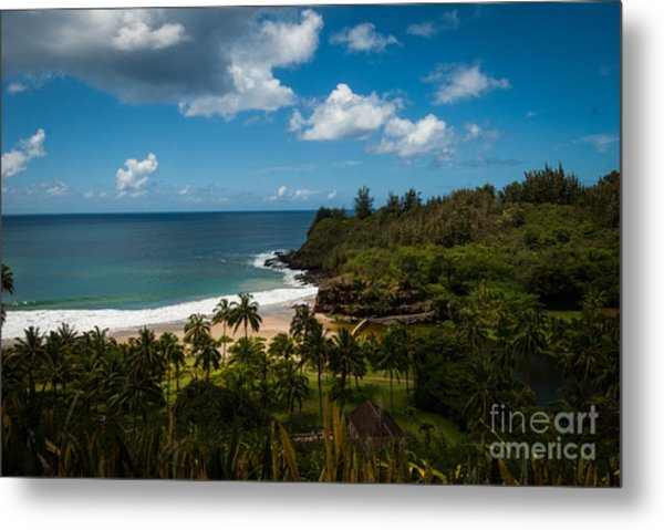 Kauai South Shore Jungle Metal Print