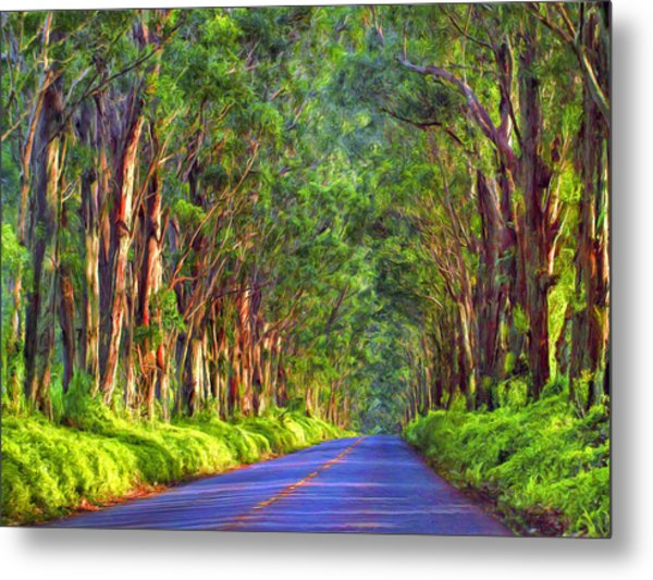 Kauai Tree Tunnel Metal Print