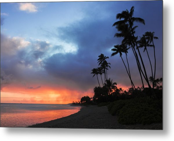 Kawaikui Sunset 2 Metal Print