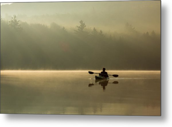 Kayaking At Sunup Metal Print