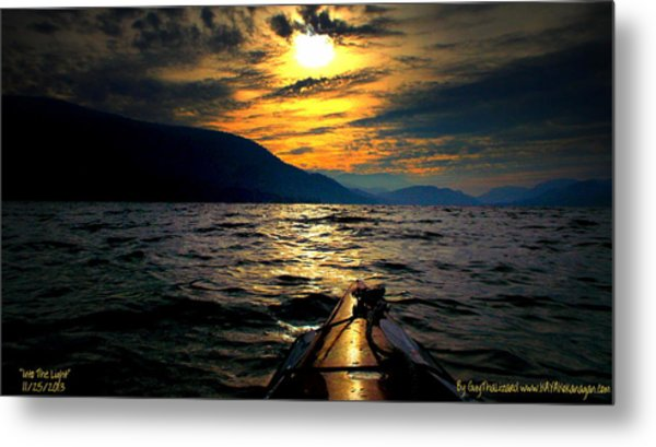 Kayaking Metal Print by Guy Hoffman