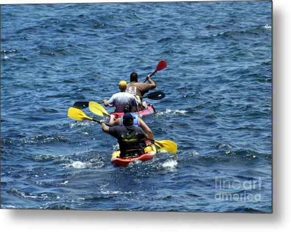Kayaking In Hawaii  Metal Print