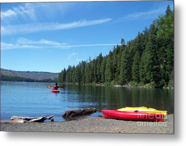 Kayaking On Suttle Lake Metal Print