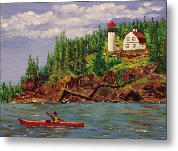 Kayaking The Coast Metal Print