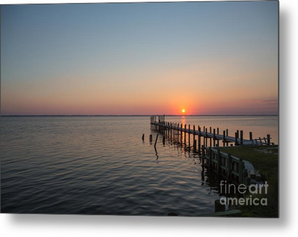 Kayaks In Sunset Metal Print