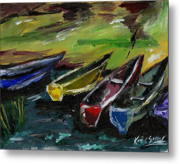 Kazinga Channel Boats Metal Print