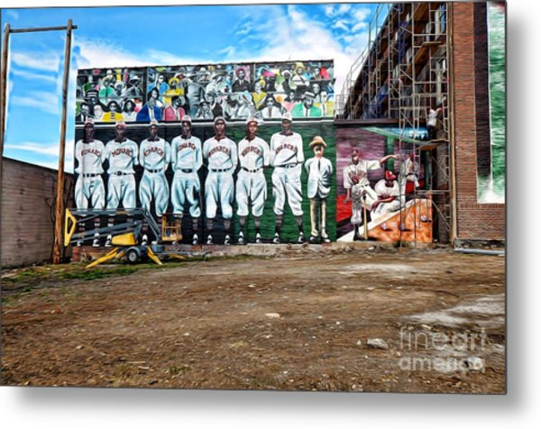 Kc Monarchs - Baseball Metal Print