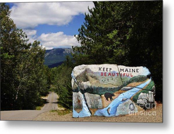 Keep Maine Beautiful Metal Print