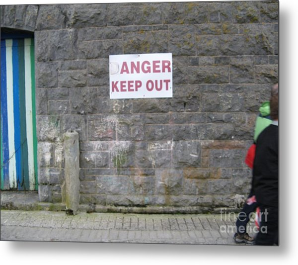 Keep Out Aran Islands Ireland Metal Print