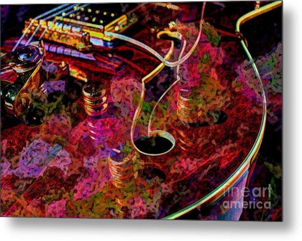 Keeping In Tune Digital Guitar Art By Steven Langston Metal Print by Steven Lebron Langston