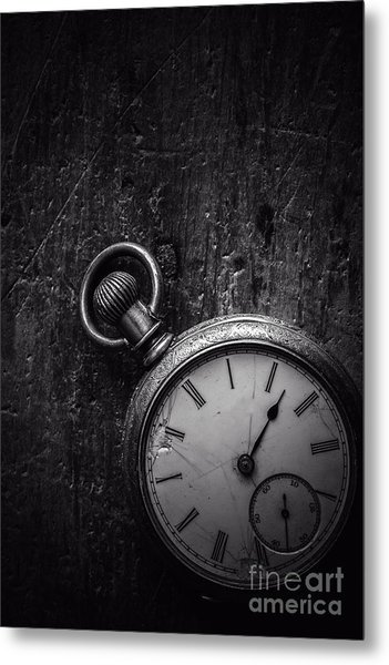 Metal Print featuring the photograph Keeping Time Black And White by Edward Fielding