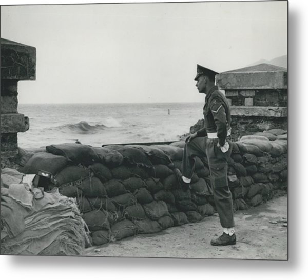 Keeping Watch On The High Tides At Lyn Mouth Metal Print by Retro Images Archive